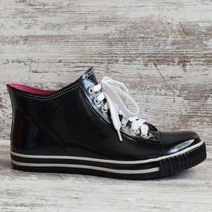 Like New Capelli NY Black Sneaker Rain Boots